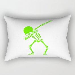 Dabbing Skull Green Rectangular Pillow