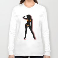 bikini Long Sleeve T-shirts featuring BIKINI by Trokola