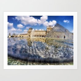 Louvre up the water Art Print