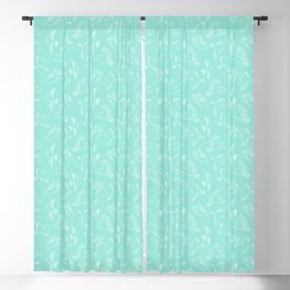 Blueish Green Birds Outline Seamless Pattern Blackout Curtain