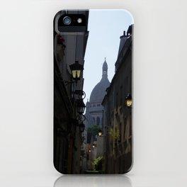 Montmartre street iPhone Case