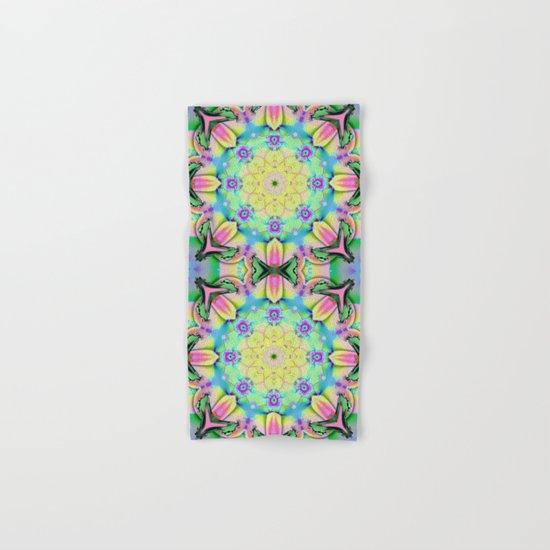Summer feelings, colourful kaleidoscope design Hand & Bath Towel