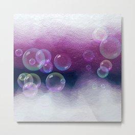 Abstract Purple Bubble Art Metal Print