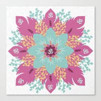 om Canvas Prints featuring Om by zakumy