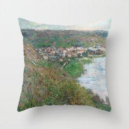 Monet - View of Vetheuil, 1880 Throw Pillow