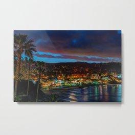 Laguna Beach at Night Metal Print