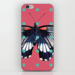 Butterflies and Polka Dots 01 iPhone Skin
