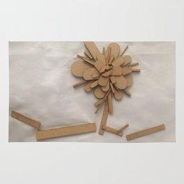Wood Flower Rug