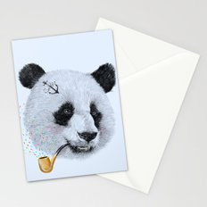 Panda Sailor Stationery Cards