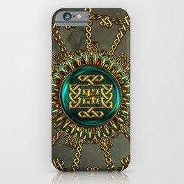 Wonderful elegant celtic kot iPhone Case