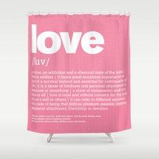 definition LLL - Love Shower Curtain