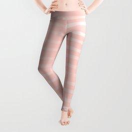 Simple Rose Pink Stripes Design Leggings