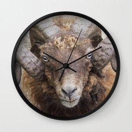 the sheep's horns Wall Clock