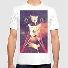 galactic Cats Saga 4 Mens Fitted Tee White MEDIUM