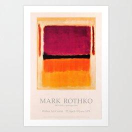 Mark Rothko Exhibition poster 1979 Art Print