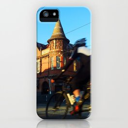 Perseverance Hotel and Cyclist iPhone Case