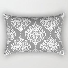 Grey Damask Rectangular Pillow