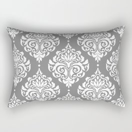 Grey Damask Rectangular Pillow