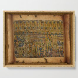 Ancient Egyptian Funerary Scroll pre 944 BC Serving Tray