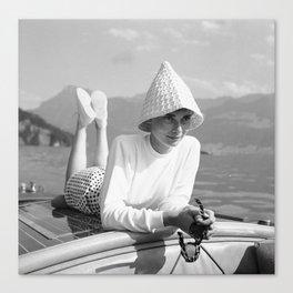 Audrey Hepburn auf dem Burgenstock Canvas Print