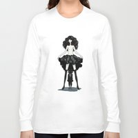 heels Long Sleeve T-shirts featuring My mind wears heels by Deletereo