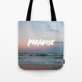 Paradise on the beach Tote Bag