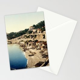 Beach at Marseille, France, ca. 1895 Stationery Cards