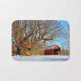 Snow Yard, Yashica C, Ektar 100, Film, Medium Format Bath Mat