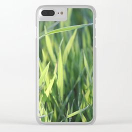 Green Paradise Clear iPhone Case
