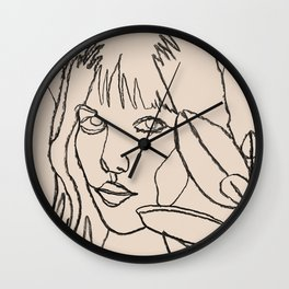 Femme et Plantes Wall Clock
