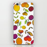 fruits iPhone & iPod Skins featuring Fruits by VessDSign