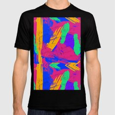 Wild Paint Brush Colors and Music Sheets MEDIUM Mens Fitted Tee Black