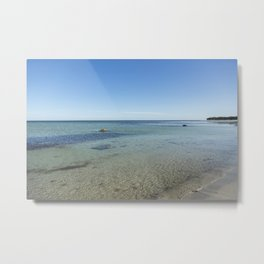 Shallow Waters At Danish Bornholm Island Metal Print