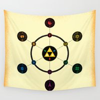 hyrule Wall Tapestries featuring Hyrule Macrocosmica by Jude Buffum