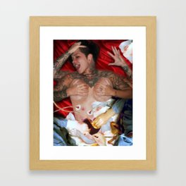 Heaven go easy on me Framed Art Print