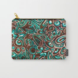 Jack Turquoise/Brown Carry-All Pouch