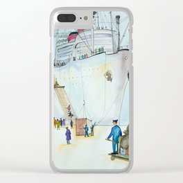 In the seaport Clear iPhone Case