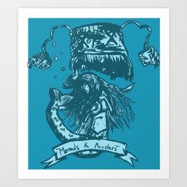 Mermaids & Monsters Art Print