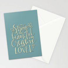 I am Strong Beutiful Creative Loved Stationery Cards