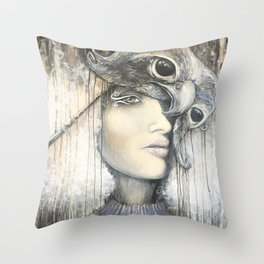 Waiting in the Wings Throw Pillow