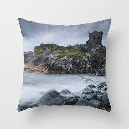 Kinbane Castle II Throw Pillow
