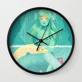 Mermaid and her pet Wall Clock