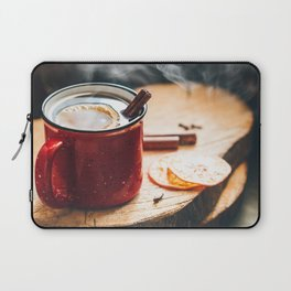 Mulled wine in a red ceramic mug Laptop Sleeve