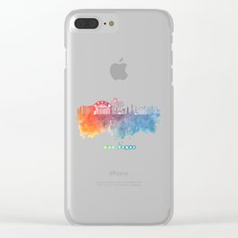 Las Vegas Nevada Skyline colored Clear iPhone Case