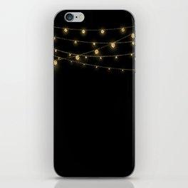Gold rich Glitter Chain- Treasure Sparkle iPhone Skin
