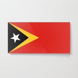 East Timor-Leste Flag Metal Print