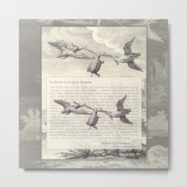 Fable of the Ducks and the Turtle Queen Metal Print