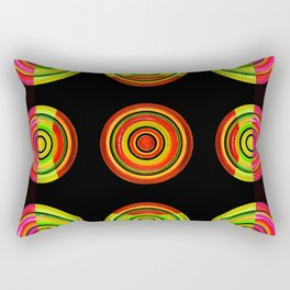 Circle # 3 squared Rectangular Pillow