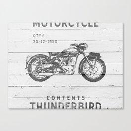 Vintage Triumph Thunderbird Motorcycle Canvas Print