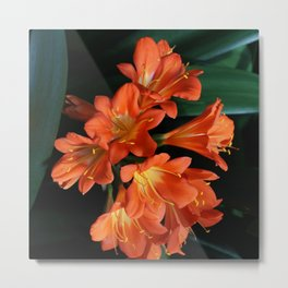Jungle Floral Metal Print